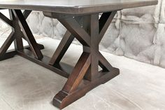 Beautiful Restoration Hardware Inspired X Base Trestle Table