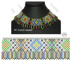 Diy Necklace Patterns, Jewelry Patterns, Beading Patterns Free, Bead Loom Patterns, Seed Bead Jewelry, Beaded Jewelry, Bead Loom Bracelets, Beaded Crafts, Beaded Collar