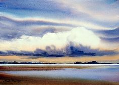 """FURTHER by Enda Bardell Watercolor ~ 16"""" x 20"""" framed"""
