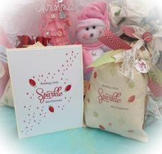 Sparkle card and bag