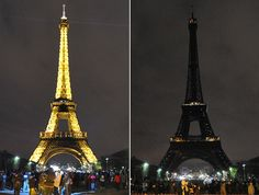 Earth Hour in Paris. telegraph.co.uk