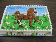 horse sheet cake (trotting)