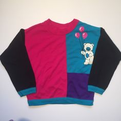 A personal favorite from my Etsy shop https://www.etsy.com/listing/265053077/girls-vintage-colorblock-sweater-size-5