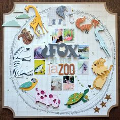 Love the zoo animals. Layout by Paige Evans.