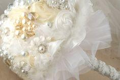 tulle wedding bouquet