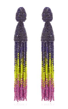 Ombre Tassel C Earring by Oscar de la Renta for Preorder on Moda Operandi