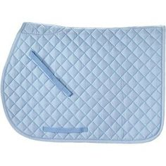 Rider's International® by Dover Saddlery Quilted Pad A favorite all purpose saddle pad of every horse! Lightweight and comfortable, the Rider's International Quilted Cotton Saddle Pad comes in tons of colors. So pick your favorite and make your horse look Horse Riding Clothes, Riding Gear, Blue Horse, My Horse, Horse Barns, English Horse Tack, English Saddle Pads, Dover Saddlery, Saddle Blanket