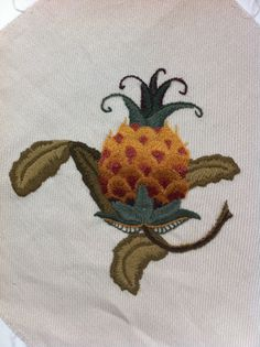 Crewel embroidery, kit from Sue Hawkins.