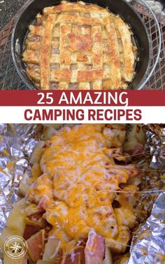 25 Amazing Camping Recipes — If you find yourself off the grid, either by choice or by circumstance, you'll need to cook meals without the usual conveniences found in the home. The easiest solution can be to open a can and heat something over a fire, but that can get old when you have a family to feed. #camping #outdoorsman #campingideas #campingfood