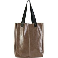 EllingtonTracy Tote Grey Leather Women's Handbag - http://www.shoes-4-you.net/2014/02/16/ellington-tracy-tote-grey-leather-womens-handbag/