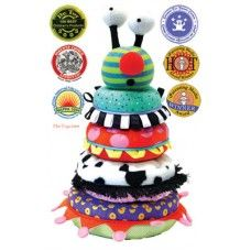 Zolo Boa Stacking Ring with Sounds        Surprise! Squeeze each ring and guess what animal sound you hear!      A stack & squeeze toy to promote tactile and auditory development.      Four squishy fabric rings each having a different sound & texture.      When stacking is complete its giggling head congratulates the child.      Tickle, squish, stack, and build your own kooky boa!
