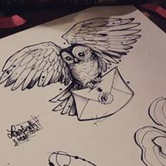 Hedwig Harry Potters Owl Coloring Page