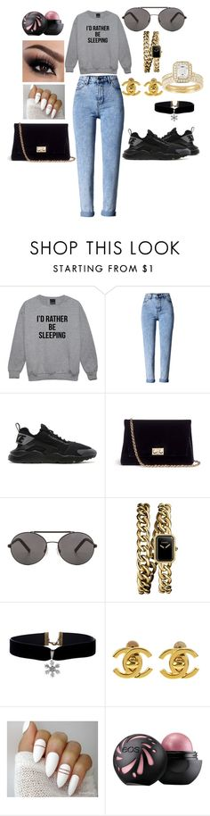 """""""Slay Them Hatter's; But I'd Rather Be Sleeping"""" by sammy-pinckney ❤ liked on Polyvore featuring WithChic, NIKE, Rodo, Seafolly and Chanel"""