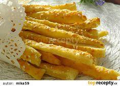 Tyčinky z jogurtu recept - TopRecepty.cz Onion Rings, Apple Pie, Carrots, Bacon, Menu, Vegetables, Breakfast, Ethnic Recipes, Desserts