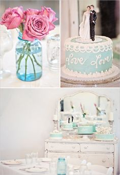 love the idea of a blue groom's cake (chocolate inside) ...something blue, and it's the color of TIFFANY'S!