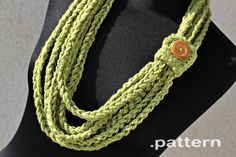 Crochet Pattern  Crochet Chain Scarf Pattern No. 023 di ZoomYummy