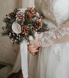 Wedding Bouquet, Bridesmaid bouquet, Dried Bouquet, bouquet, pine cone Bouquet, Fall Bouquet, Bridal Bouquet, Sola flower bouquet, gold Winter Bouquet, Fall Bouquets, Wedding Bouquets, Alternative Bouquet, Alternative Wedding, Wedding Flower Alternatives, Sola Wood Flowers, Ivory Roses, Wedding Order
