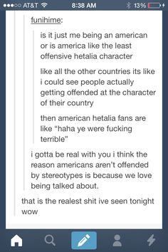 Haha there are good and bad sides to our stereotypes but I cant help but laugh XD I enjoy our stereotype