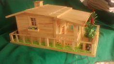 ⛪ Casa de Palito de Picolé - . /  ⛪ Popsicle Stick House -