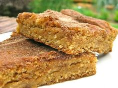 Snickerdoodle Blondies. Snickerdoodles are my favorite cookies, so I'm definitely trying these this week!