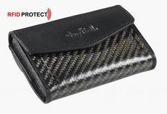 RFID-Schutzetui Tony Perotti Carbonstruktur schwarz Münzfach - Bags & more Money Clip, Money Clips