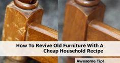 Revivir muebles solo con aceite y vinagre - Date un capricho
