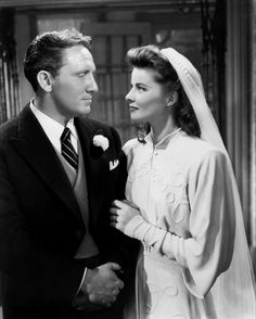 Spencer Tracy and Katharine Hepburn in Woman of the Year, 1942