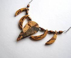 wlkr / Drevené náhrdelníky/Navliekané / Špaltovaný buk + breza Bracelets, Leather, Jewelry, Fashion, Moda, Jewlery, Jewerly, Fashion Styles, Schmuck