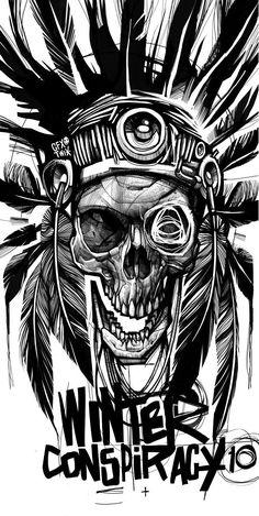 Weird Tattoos, Skull Tattoos, 3d Tattoos, Tattoo Ink, Arm Tattoo, Sleeve Tattoos, Native American Warrior Tattoos, Norse Tattoo, Viking Tattoos
