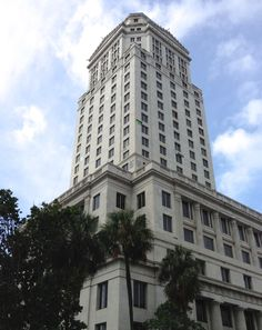 The historic Miami-Dade County Courthouse was built over four years (1925–28), and back then it was the tallest building in Miami and in Florida