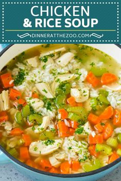 Chicken and Rice Soup Recipe | Homemade Chicken Soup | Easy Chicken Soup #soup #chicken #rice #dinner #glutenfree #comfortfood #dinneratthezoo