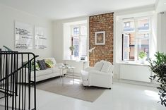 Marcos Blancos en un salón con paredes blancas - BLOG TOTPINT | Tu ...