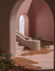 Organic Architecture by AvantForm Contributor Alberto Carbonell Studios Architecture, Organic Architecture, Minimalist Architecture, Interior Architecture, Amazing Architecture, Retro Interior Design, Maxon Cinema 4d, Art Deco, Pink Sand