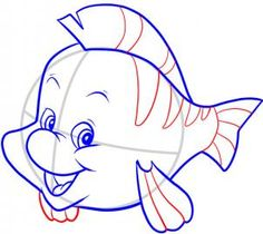 Cartoon Drawing Techniques Disney - How to Draw Flounder Cartoon Sketches, Disney Sketches, Disney Drawings, Drawing Sketches, Drawing Cartoons, Drawing Disney, Drawing Poses, Animal Drawings, Art Drawings