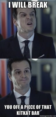 Moriarty meme Sherlock. This is the funniest Moriarty by far!!