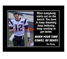 Inspirational Football Quotes, Motivational Wall Art, Inspirational Wall Art, Wall Art Quotes, Quote Wall, Tom Brady Quotes, Tom Brady Meme, Tom Brady Football, Patriots Football