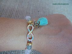 Quartz women bracelet Fluorite women by AndyCollectionJewels