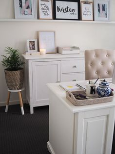 Home Office Reveal | KIrsten and co's home office reveal featuring LIATORP desk from IKEA | kirstenandco.com