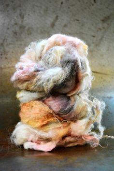 """""""Les Impressionnistes"""", nappes de fibres peintes à la main. """"Les Impressionnistes"""", handpainted fibers batts."""