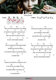 Flaca para ukelele de Andres Calamaro de ukelelegirl.es Ukulele Tabs Songs, Uke Tabs, Music Chords, Guitar Songs, Guitar Classes, Guitar Lessons, Musica Love, Music Quote Tattoos, Rock Argentino