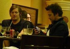 Norman Reedus and Sean Patrick Flanery out at dinner