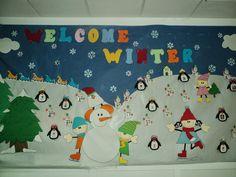 "Centro de Educación Infantil ""Almeragua"": Mural de invierno Classroom Window, Winter Bulletin Boards, Polo Norte, Welcome Winter, Art N Craft, Art Activities, Kids Christmas, Art For Kids, Arts And Crafts"