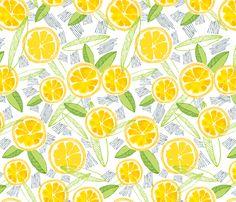 Lemon Tart fabric by c_manning on Spoonflower - custom fabric