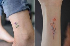 tatuagem pequena colorida aquarela 4