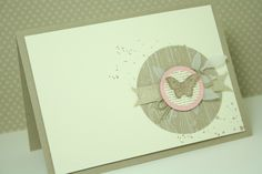 Crumb Cake butterfly hemp twine Circle Punch Gorgeous grunge white card twill