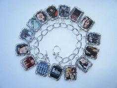 The Beatles Altered Art Charm Bracelet by HiddenValleyJewelry