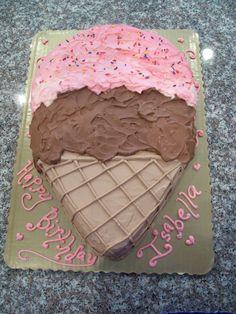 Ice Cream Cone Shaped Cake!