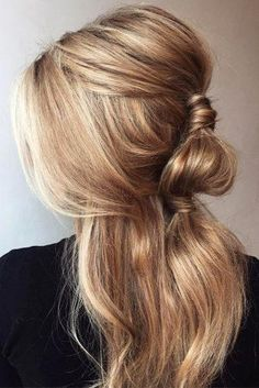 [ Bridal Hairstyles : 33 Exquisite Wedding Hairstyles With Hair Down ❤ wedding hairstyles down casual bridal half up half down on blond hair Face Shape Hairstyles, Bob Hairstyles For Fine Hair, Wedding Hairstyles For Long Hair, Trending Hairstyles, Down Hairstyles, Bridal Hairstyles, Photomontage, Wedding Hair Down, Wedding Bride
