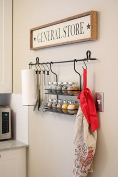 18 Trendy kitchen storage ideas for small spaces ikea hooks Small Spice Racks, Hanging Spice Rack, Ikea Spice Rack, Spice Storage, Spice Rack Over Stove, Small Kitchen Organization, Wall Organization, Kitchen Storage, Organizing Ideas