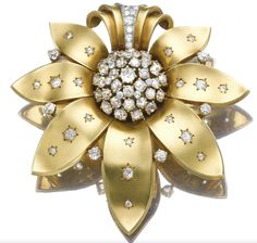 A Van Cleef & Arpels gold and diamond brooch, 1940.